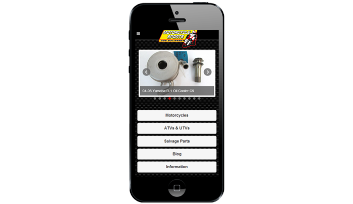 Motorcycle Sports Mobile Website Design